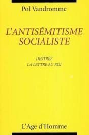 Antisemitisme Socialiste - Couverture - Format classique