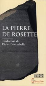 La pierre de Rosette - Couverture - Format classique