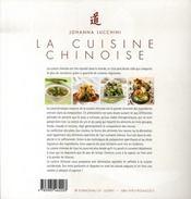 La cuisine chinoise - 4ème de couverture - Format classique