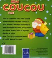MAXI COUCOU ; Noël ; qu'est-ce qui se trouve derrière le rabat ? (vert) - 4ème de couverture - Format classique