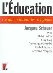 Education. ce qu'en disent les religions - Intérieur - Format classique