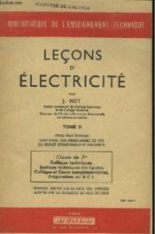 Lecons D'Electricite - Tome 2 - Couverture - Format classique