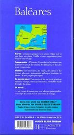 Le Guide Bleu Evasion Des Baleares - 4ème de couverture - Format classique