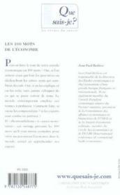 Les 100 mots de l'économie - Couverture - Format classique