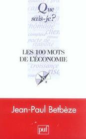 Les 100 mots de l'économie - Intérieur - Format classique