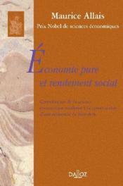 Économie pure et rendement social - Couverture - Format classique