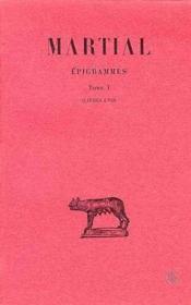 Épigrammes t.1 ; livres 1 à 7 - Couverture - Format classique