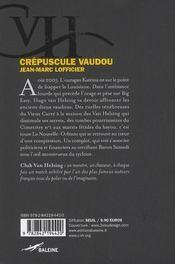 Crépuscule vaudou - 4ème de couverture - Format classique