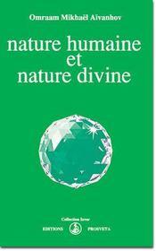 Nature humaine et nature divine - Intérieur - Format classique