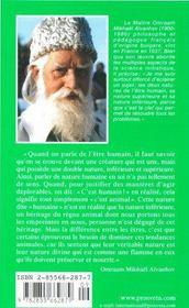 Nature humaine et nature divine - 4ème de couverture - Format classique