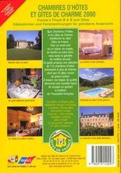 Chambres D'Hotes Et Gites De Charme 2000 - 4ème de couverture - Format classique
