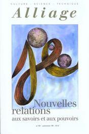 Revue Alliage N.40 ; Nouvelles Relations - Intérieur - Format classique