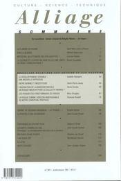 Revue Alliage N.40 ; Nouvelles Relations - 4ème de couverture - Format classique