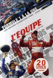 Formule 1 A La Une ; Les Grands Champions, 1985-2006 ; Coffret 20 Unes Historiques - Intérieur - Format classique