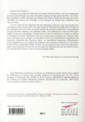 Les marrons boni de guyane. luttes et survie en logique coloniale (17 12-1880) - 4ème de couverture - Format classique