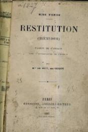 Restitution (Chantry House). - Couverture - Format classique