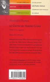 Le comte de Monte Cristo t.2 ; la vengeance - 4ème de couverture - Format classique