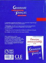 Grammaire progressive francais - 4ème de couverture - Format classique