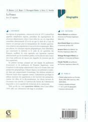 La France : Les Vingt-Deux Regions - 4ème de couverture - Format classique