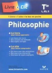 Philosophie ; terminale l, es, s (edition 2007) - Couverture - Format classique