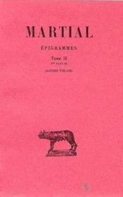 Épigrammes t.2 ; 1ère partie (livres VIII-XII) - Couverture - Format classique