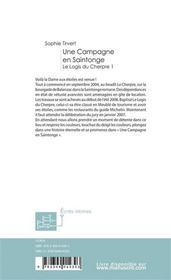 Une campagne en saintonge - 4ème de couverture - Format classique