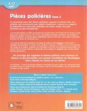 Pièces policières t.2 - 4ème de couverture - Format classique