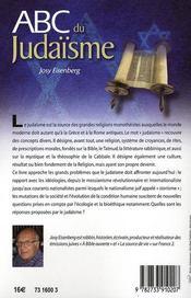 ABC du judaïsme - 4ème de couverture - Format classique