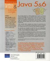 Synthex ; Java 5 Et 6 - 4ème de couverture - Format classique