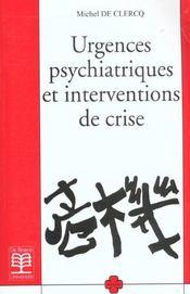Urgences psychiatriques et interventions de crise - Intérieur - Format classique