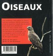 Oiseaux - 4ème de couverture - Format classique