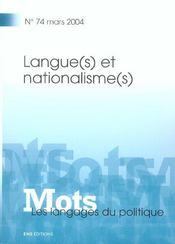 Mots T.74 (édition 2004) - Intérieur - Format classique
