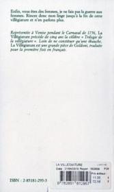 La villégiature - 4ème de couverture - Format classique