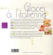 Glaces à l'italienne - 4ème de couverture - Format classique