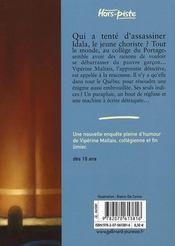 Le secret du choriste - 4ème de couverture - Format classique