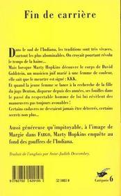 Fin De Carriere - 4ème de couverture - Format classique