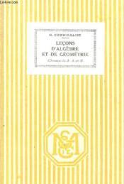 LECONS D'ALGEBRE ET DE GEOMETRIE - CLASSES DE 3e A ET B / PROGRAMMES DE 1931 / CINQUIEME EDITION. - Couverture - Format classique