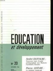 Education Et Developpement N°20 - Couverture - Format classique