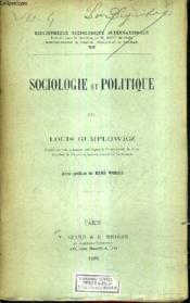 Sociologie Et Politique. - Couverture - Format classique