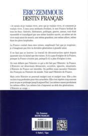Destin français - 4ème de couverture - Format classique