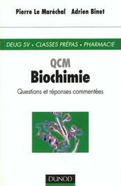 Qcm - biochimie - Intérieur - Format classique