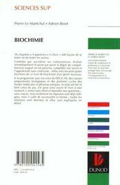 Qcm - biochimie - 4ème de couverture - Format classique