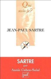 Jean-Paul Sartre - Couverture - Format classique
