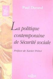 La politique contemporaine de sécurité sociale - Intérieur - Format classique