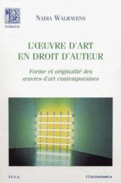L'Oeuvre D'Art En Droit D'Auteur - Couverture - Format classique
