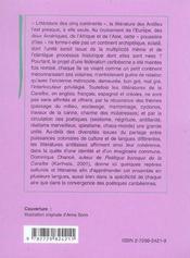 Histoire Des Litteratures Antillaises - 4ème de couverture - Format classique