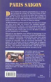 Paris-saigon - 4ème de couverture - Format classique