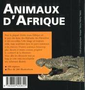 Animaux D'Afrique - 4ème de couverture - Format classique
