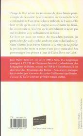 Passage Du Desir - 4ème de couverture - Format classique