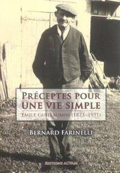 Preceptes pour une vie simple ; emile guillaumin, 1873-1951 - Intérieur - Format classique